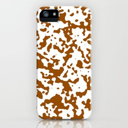 Spots - White and Brown iPhone Case