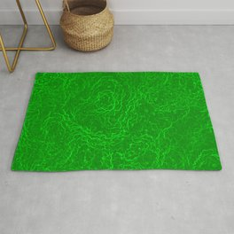 Neon Green Alien DNA Plasma Swirl Rug
