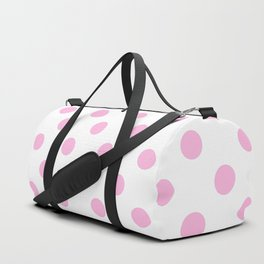 Polka Dots (Pink & White Pattern) Duffle Bag