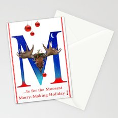Let's Have The Moosest Merry-Making Holiday ! Stationery Cards