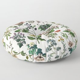 vintage botanical print Floor Pillow