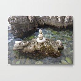 Sea and stone Metal Print