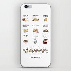 Foods of 30 Rock iPhone Skin