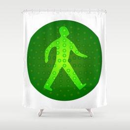 Green Walking Man Shower Curtain