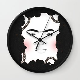 Flower Queen Frida. Wall Clock