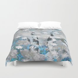 ELEPHANT AND FLOWERS Duvet Cover