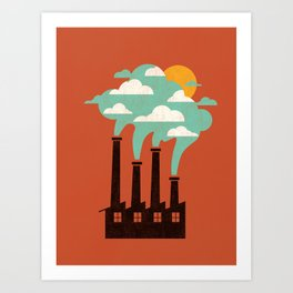 The Cloud Factory Art Print