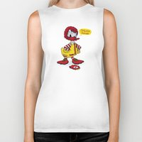 donald duck Biker Tanks featuring Donald by 2mzdesign