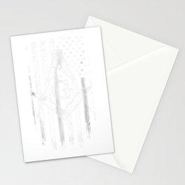Masonic American Flag Square and Compass - Freemason T-Shirt Stationery Cards