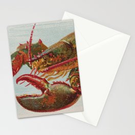 Vintage Illustration of a Lobster (1889) Stationery Cards