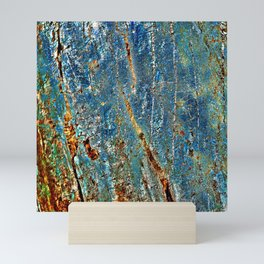 Blue Archetypal Structures Mini Art Print