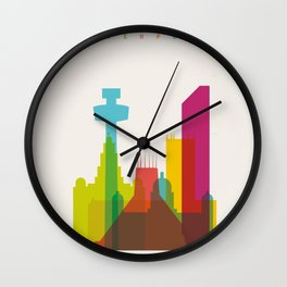 Shapes of Liverpool. Accurate to scale. Wall Clock