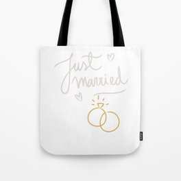 Just Married 25 Years Ago Marriage Tote Bag