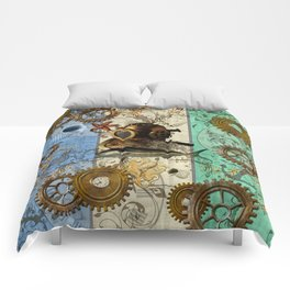 Nautical Steampunk Comforters