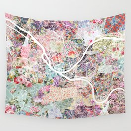 Pittsburgh map - Landscape Wall Tapestry