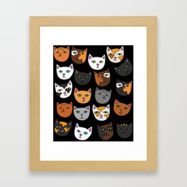 Kitty Cats Everywhere Framed Art Print