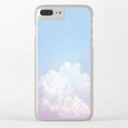 Dreamy Cotton Blue Sky Clear iPhone Case