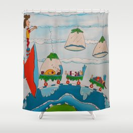 The Super Speed Funnel Shower Curtain