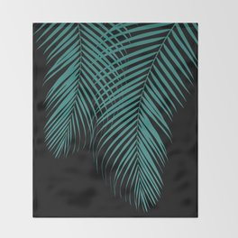 Summer Night Palm Leaves #1 #tropical #decor #art #society6 Throw Blanket