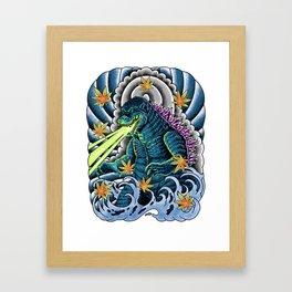 king of monster japanese tattoo Framed Art Print