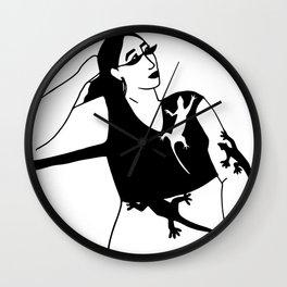 Lizard Girl Wall Clock