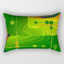 Great Green Frac 3 Rectangular Pillow