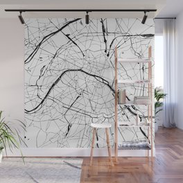 Paris Minimal Map Wall Mural
