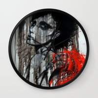 pain Wall Clocks featuring Pain by Clayton Young