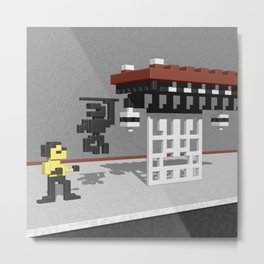 BruceLee Commodore 64 game tribute Metal Print
