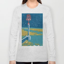 Seaview Fire Beacon in Turquoise Long Sleeve T-shirt