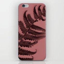 Fern on marsala iPhone Skin