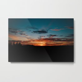 NW sunset Metal Print