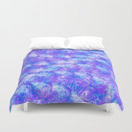 Purple, Blue and White; Fluid Abstract 54 Duvet Cover