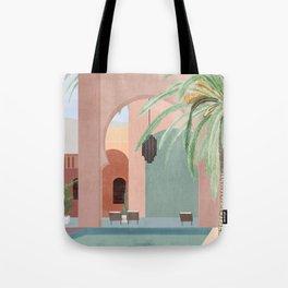 Moroccan Pool Tote Bag