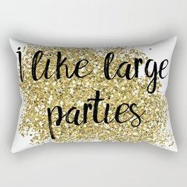 I like large parties - golden jazz Rectangular Pillow