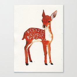 Bambi watercolor Canvas Print