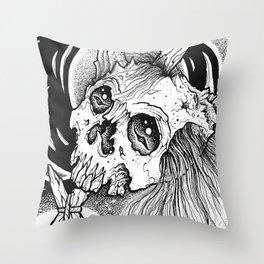 Moonskull Throw Pillow