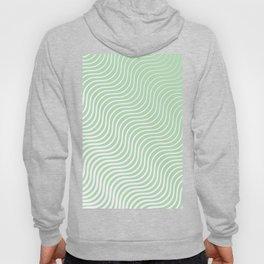 Whisker Pattern - Light Green & White #440 Hoody