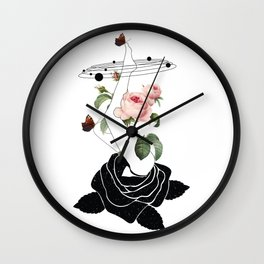 Space mystery natural Roses solar system Wall Clock