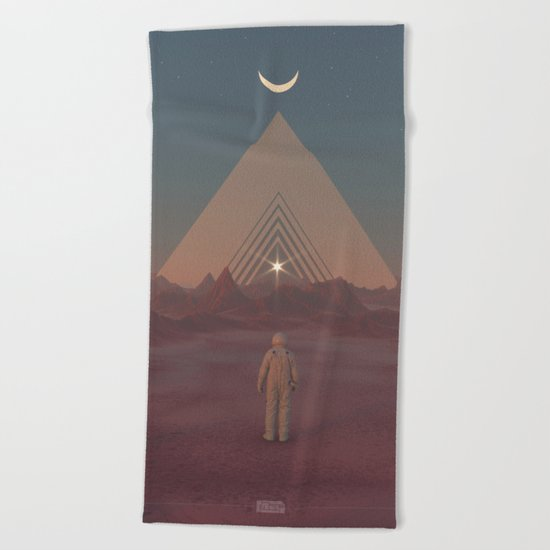 Lost Astronaut Series #01 - Enter the Void Beach Towel