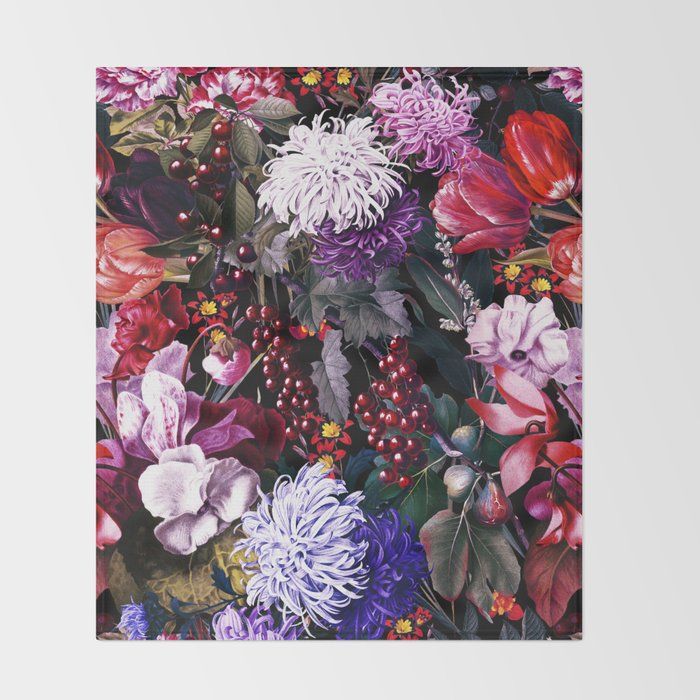 EXOTIC GARDEN - NIGHT XIX Throw Blanket