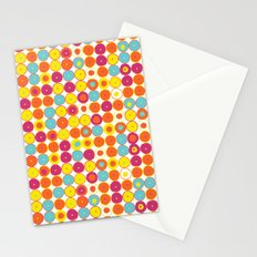 Funny Polkas-Yellow and orange Stationery Cards