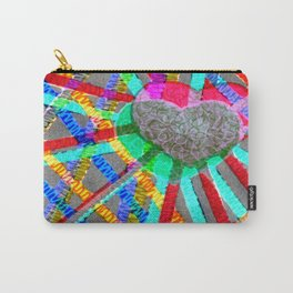Multi Heart Rays 1 Carry-All Pouch