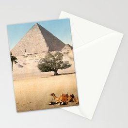 Vintage Pyramid : Grand Pyramid Gizeh Egypt 1895 Stationery Cards