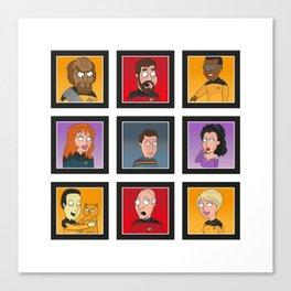 The Family Star Trek Bunch: Next Generation Canvas Print