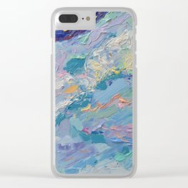 Summer Clouds - impressionism abstract summer nature landscape by Adriana Dziuba Clear iPhone Case