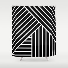 White stripes Shower Curtain