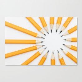 Pencil circle Canvas Print