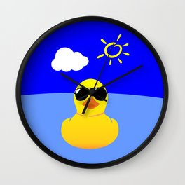 Cool Rubber Duck Yellow Wall Clock