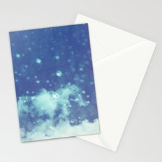 Blue and purple bubble clouds II Stationery Cards